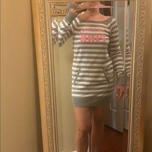 PINK VS sweatshirt dress/tunic